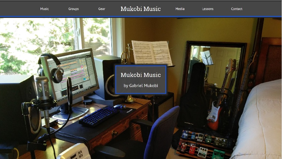Mukobi Music website screenshot